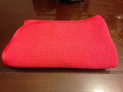 waffle weave glass drying towel