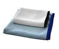 Two Microfiber Waffle Weave Drying Towels