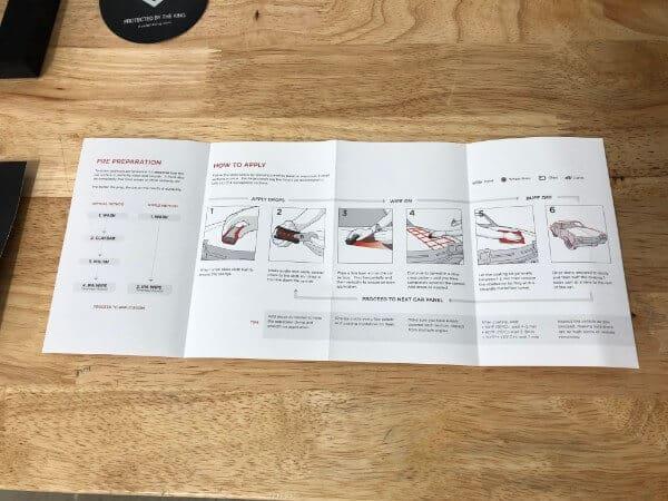 AvalonKing ceramic coating instructions insert unfolded front