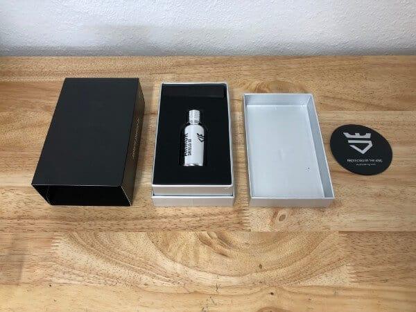 AvalonKing ceramic coating bottle inside velvet box