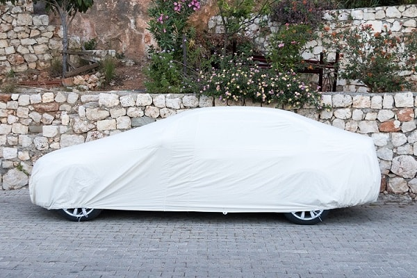 Ready-fit car cover for outdoor use.