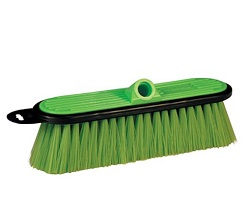 Wide green brush for use on pole to wash side of RV